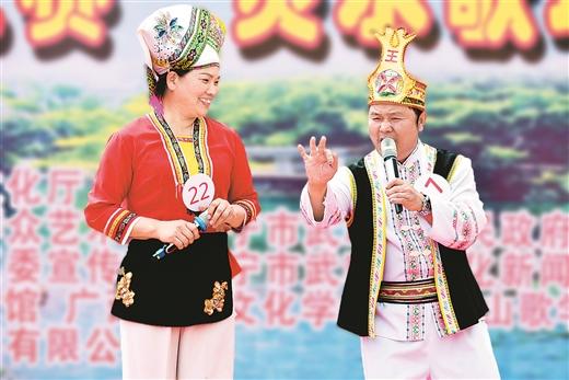 """广西日报:第10届广西歌王大赛""""灵水歌圩""""王中王斗歌盛会举行"""